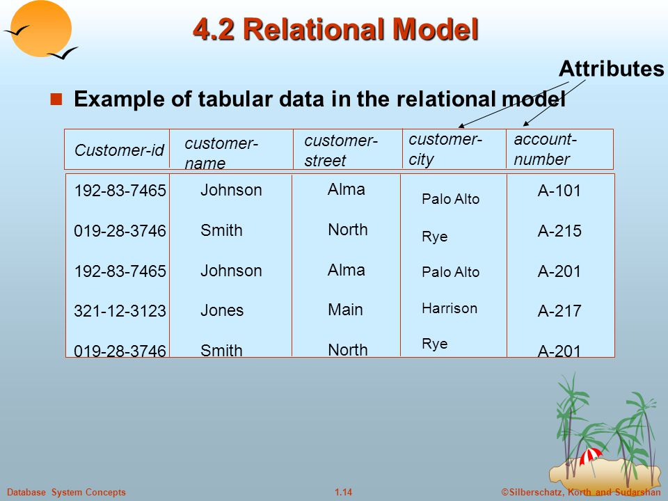 4.2 Relational Model Attributes