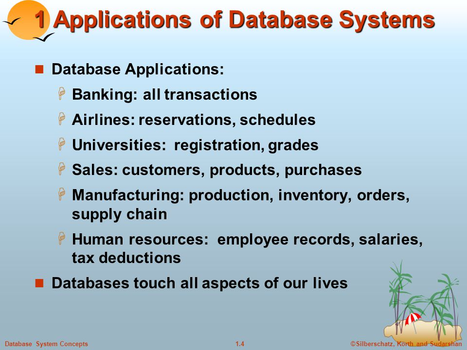 1 Applications of Database Systems