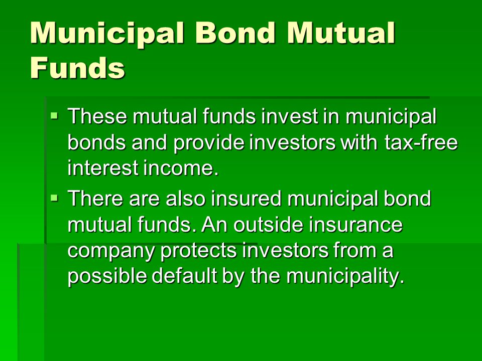 Municipal Bond Mutual Funds