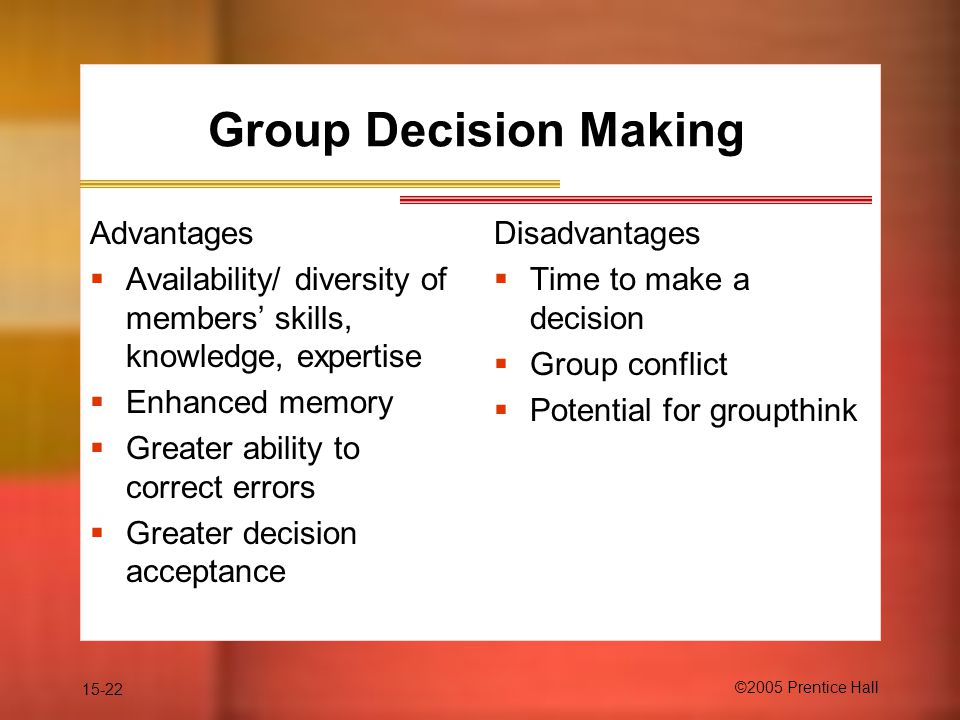Group Decision Making Advantages 36