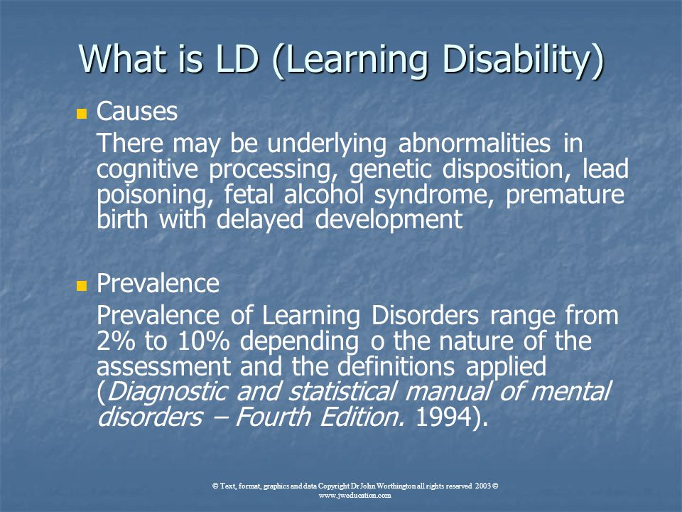 learning disability definitions Several definitions of learning disabilities exist the definition most often used in higher education is that of the us department of education, rehabilitation services administration this definition reads as follows: a specific learning disability is a disorder in one or more of the central .