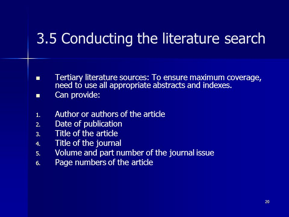 3.5 Conducting the literature search