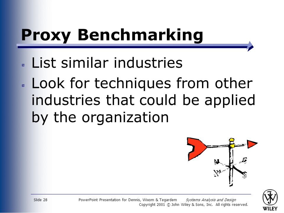 Proxy Benchmarking List similar industries