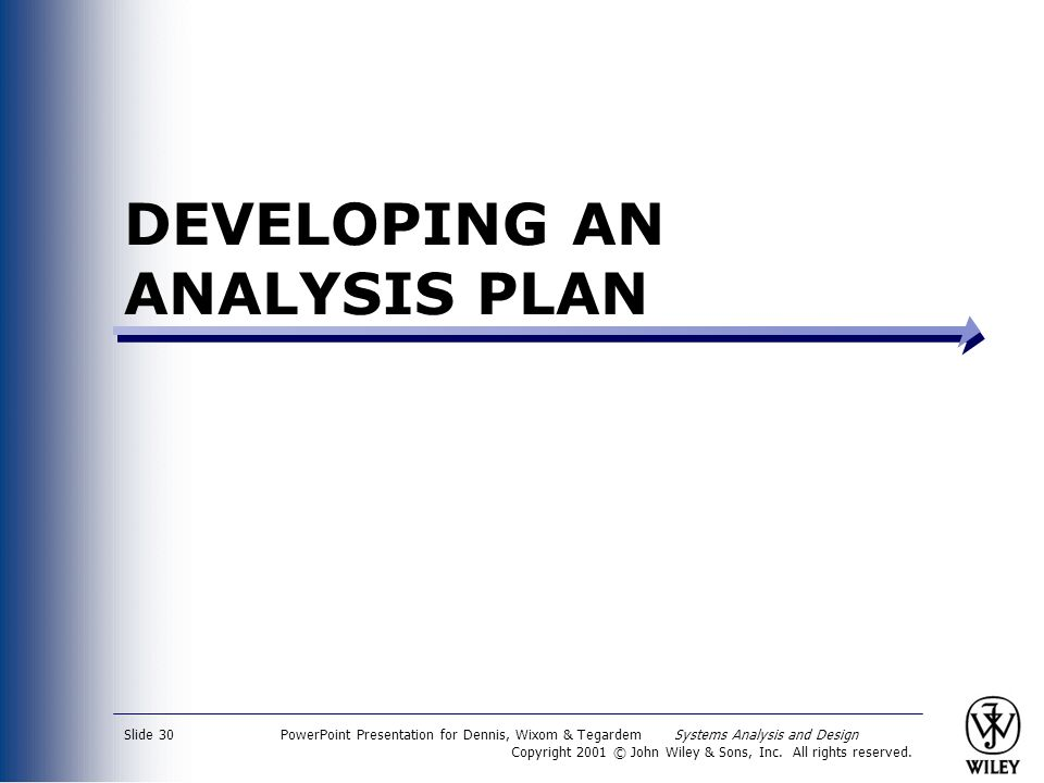 DEVELOPING AN ANALYSIS PLAN