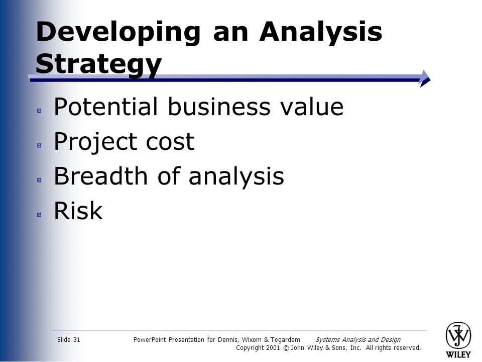 Developing an Analysis Strategy