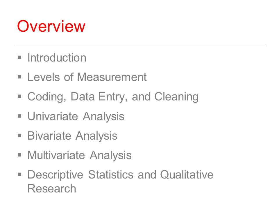 Data Coding and Measurement Analysis