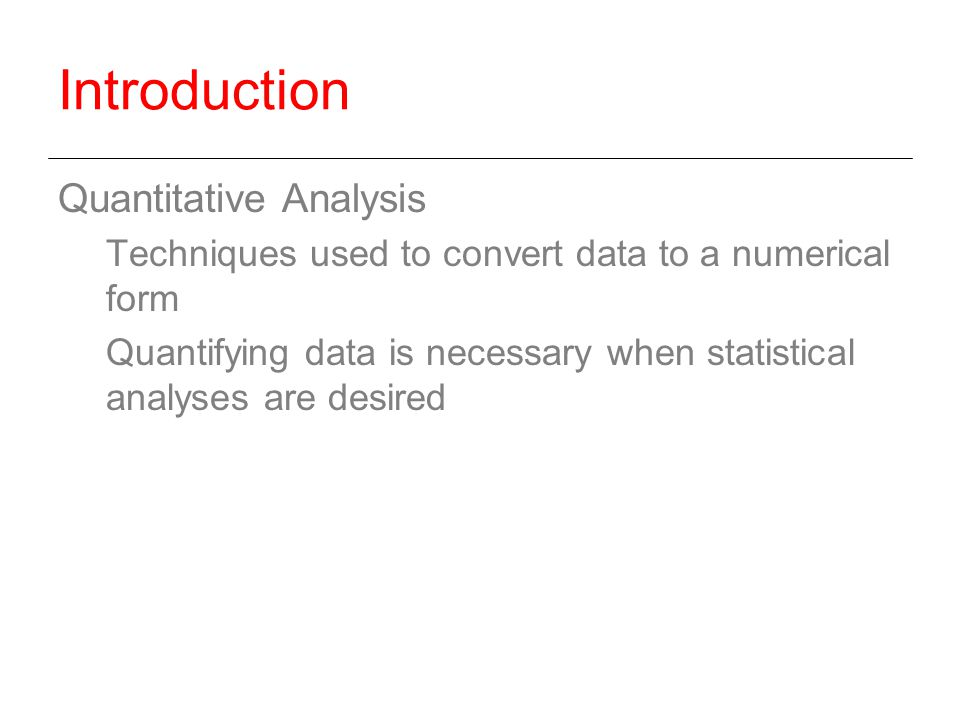 data analysis techniques used in quantitative research An introduction to using microsoft excel for quantitative data analysis contents  statistical techniques that are used in research more surprisingly, it lacks.