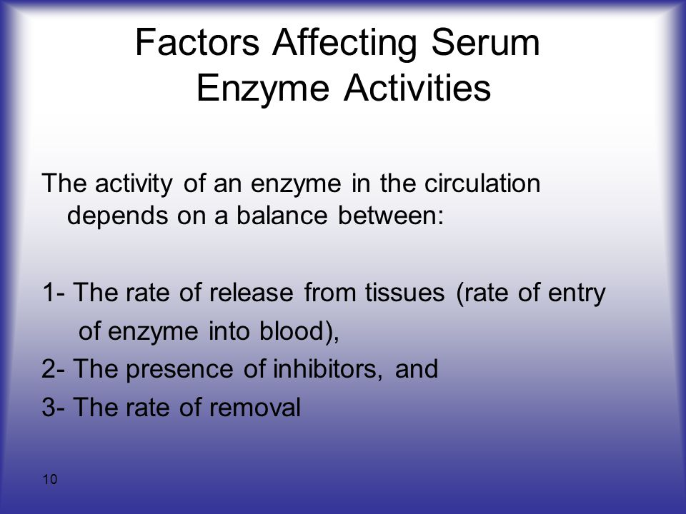 Factors affecting the rate of enzyme activity