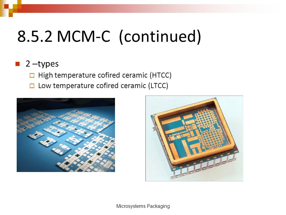 Microsystems Packaging
