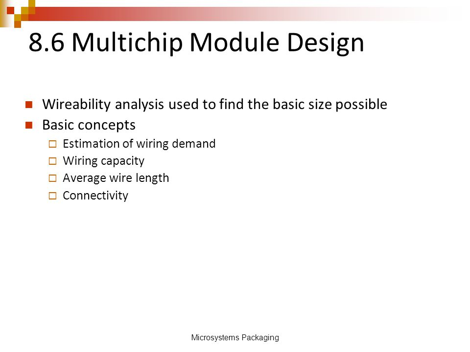 8.6 Multichip Module Design