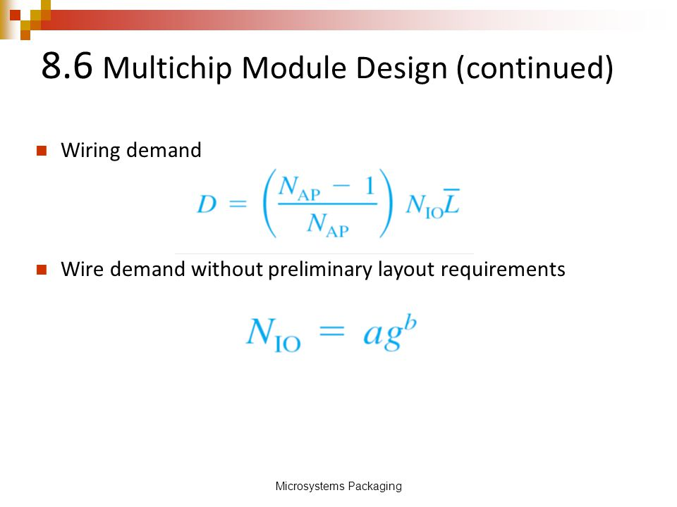 8.6 Multichip Module Design (continued)