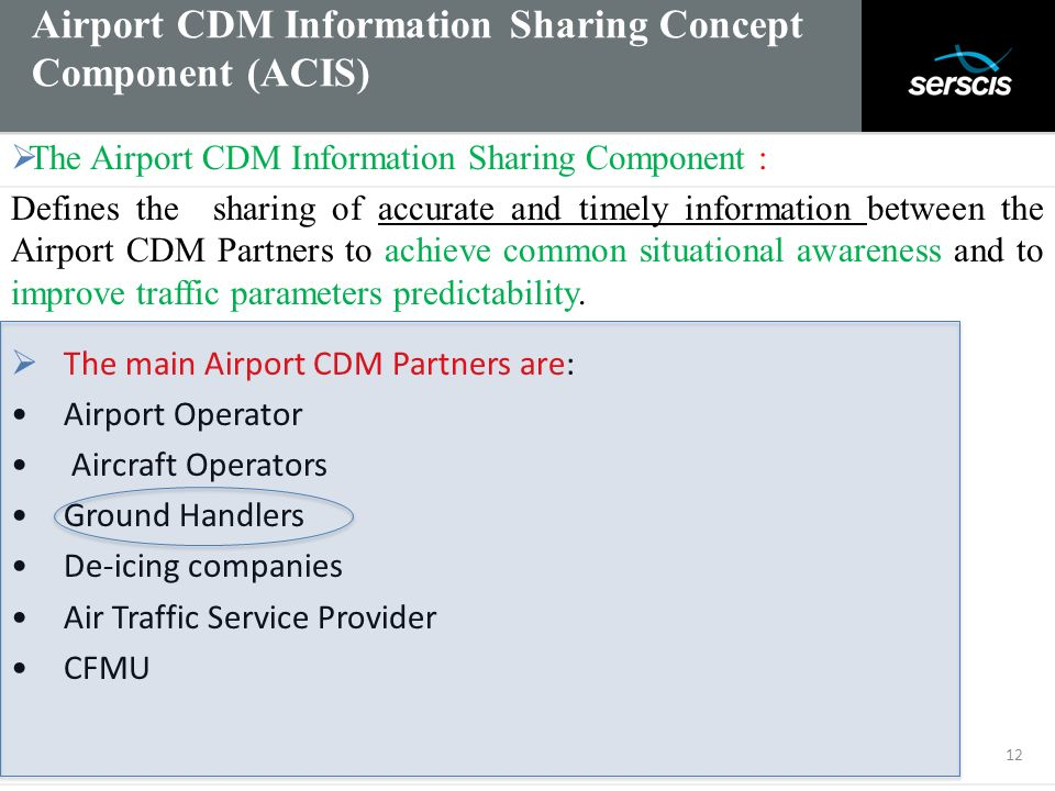 Airport CDM Information Sharing Concept Component (ACIS)