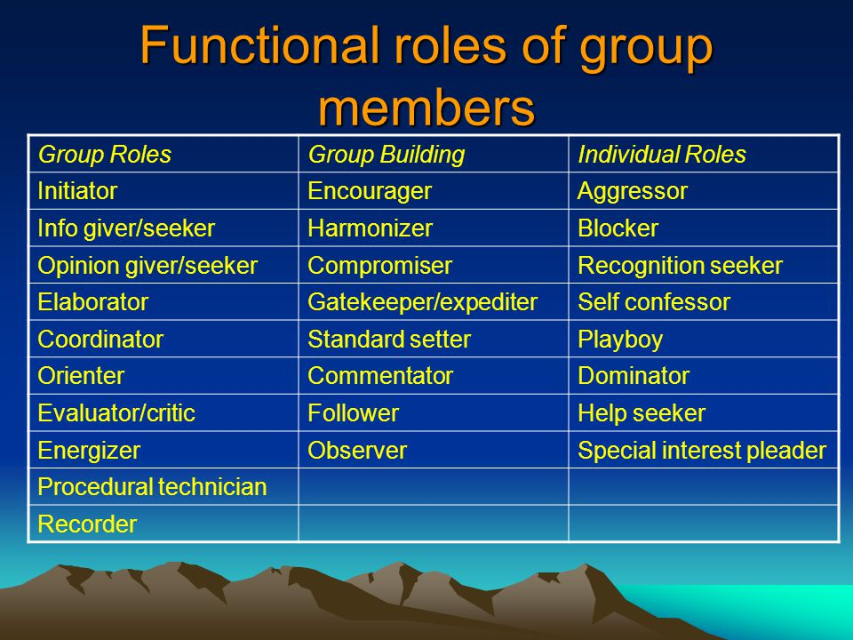 role as an initiator of a group For social work, the role expectations are not quite as clearly understood by the general public perhaps this is because there are so many professional roles in social work the number and diversity of social work roles provide opportunity for a great deal of creativity in practice.