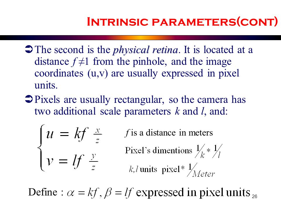 Intrinsic parameters(cont)