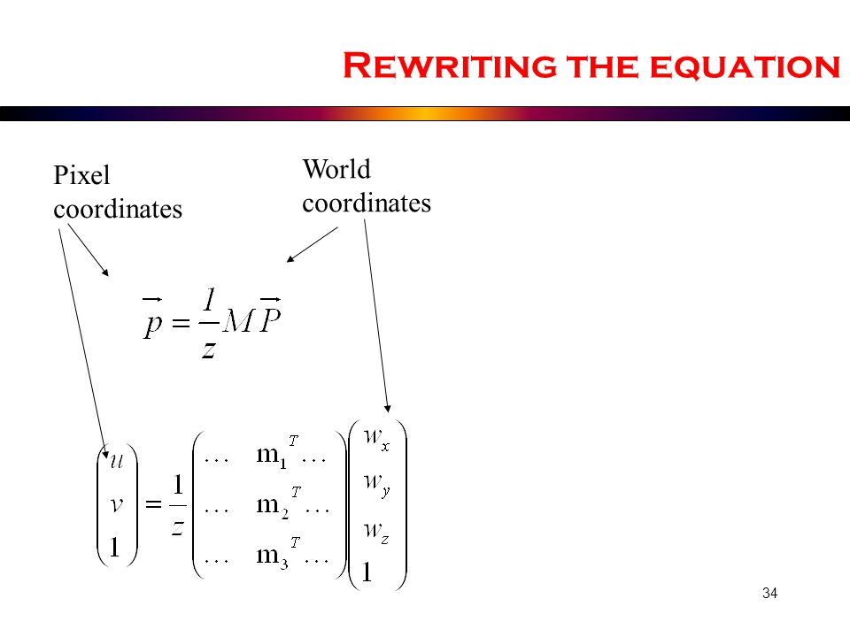 Rewriting the equation