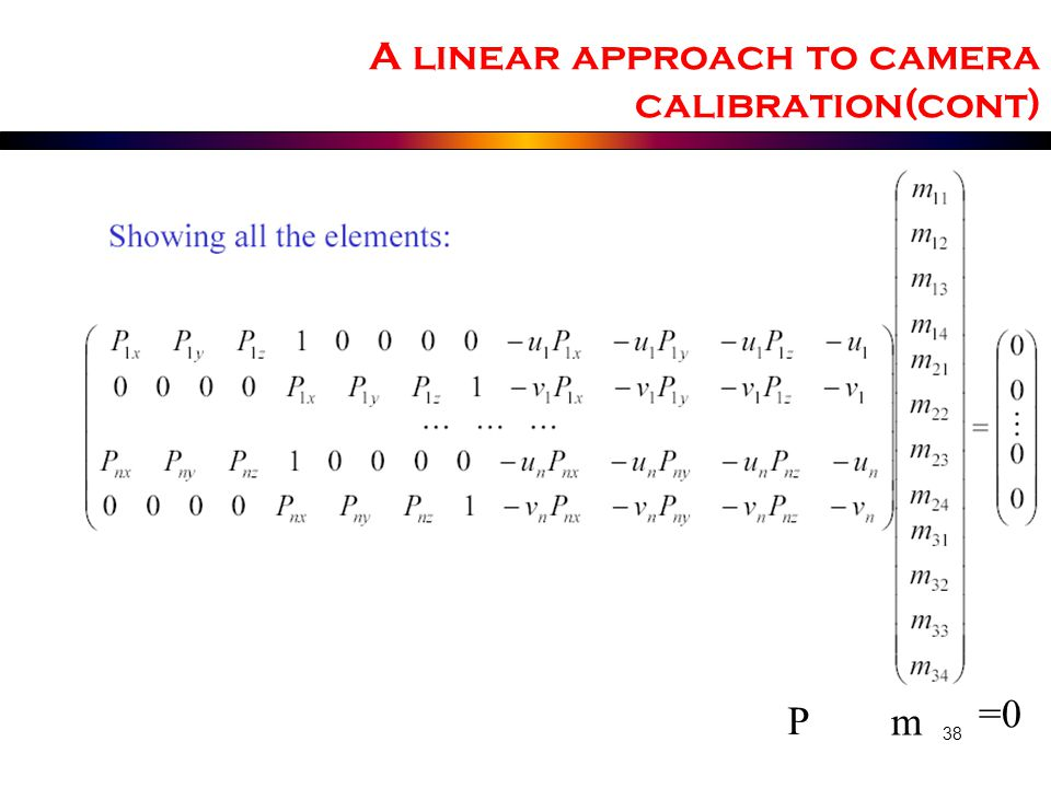 A linear approach to camera calibration(cont)