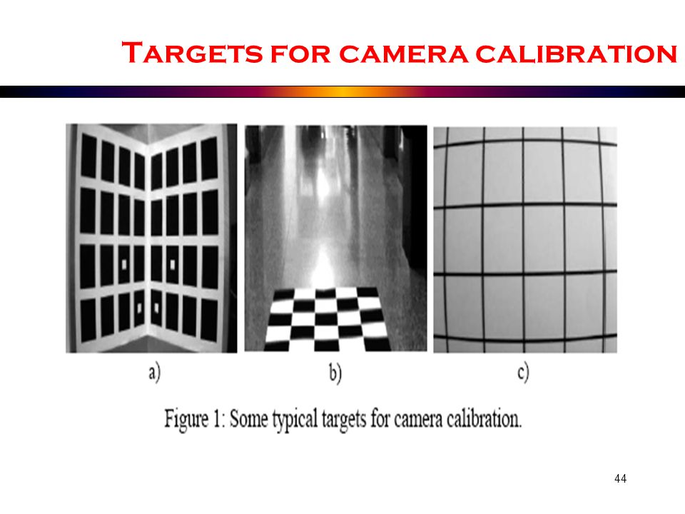 Targets for camera calibration