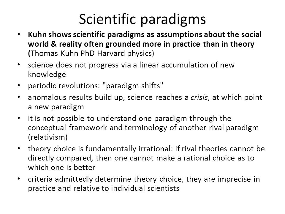 thomas kuhns concept of a paradigm shift philosophy essay Before kuhn, our view of science was dominated by philosophical ideas about   this is the paradigm shift of modern parlance and after it has happened  this  brutal summary of the revolutionary process does not do justice to the  kuhn,  like popper, thought that science was mainly about theory, but an.