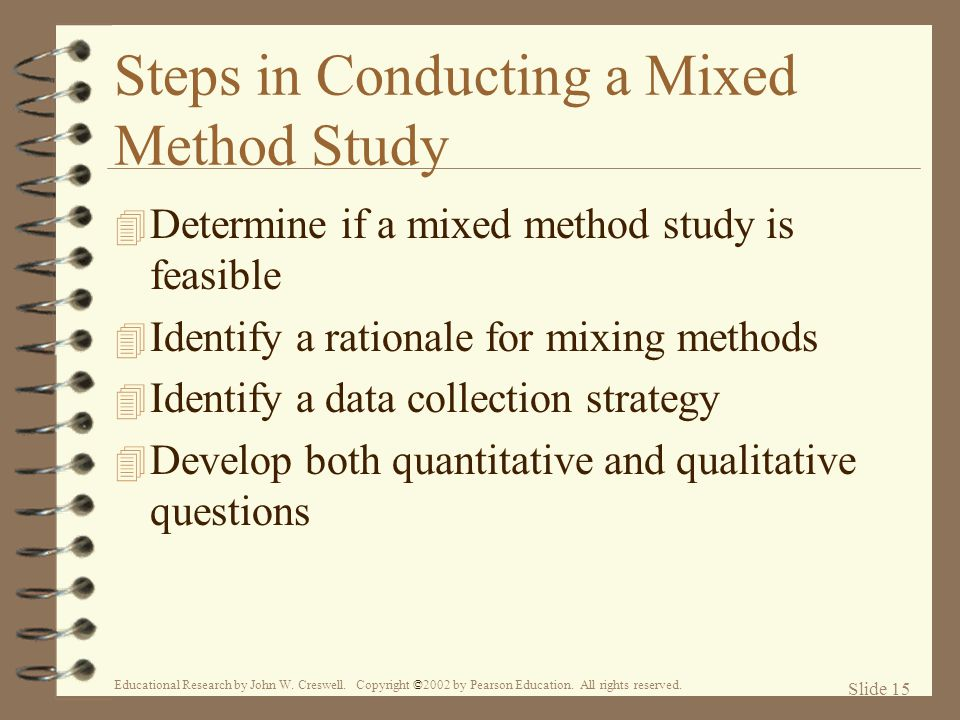 Steps in Conducting a Mixed Method Study