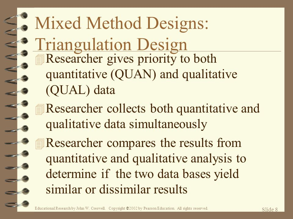 mixed method designs Mixed method research can include culture in the design by giving a voice to everyone involved in the behavior being examined perceived gender and racial/ethnic barriers to stem success.