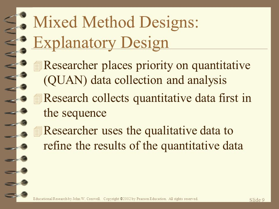 Mixed Method Designs: Explanatory Design