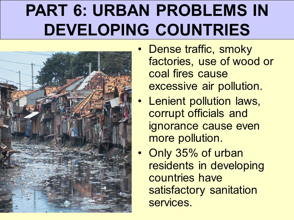 urban issues in developing nations essay Free essay: introduction when we talk about poverty, we always relate poverty to poor living conditions or low standard of living poverty is an issue that.