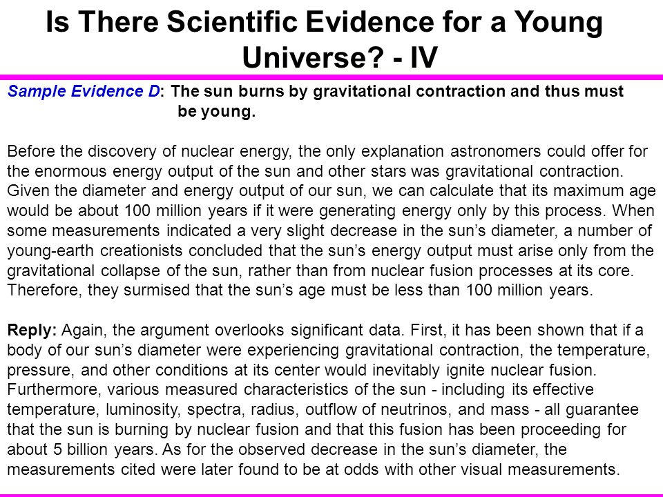 Is There Scientific Evidence for a Young Universe - IV