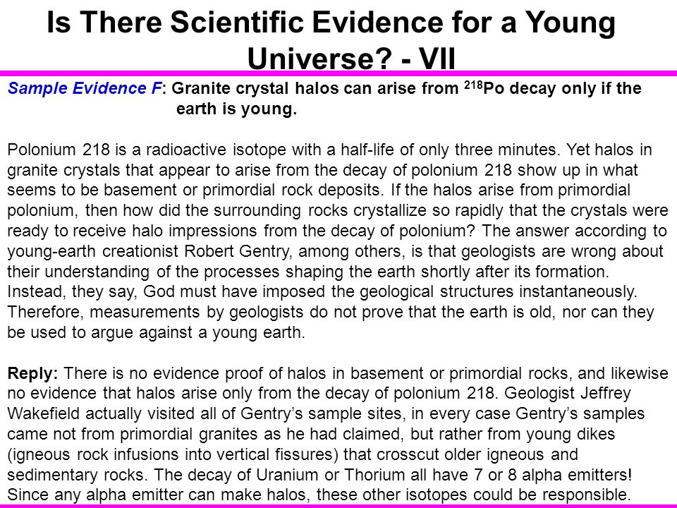 Is There Scientific Evidence for a Young Universe - VII