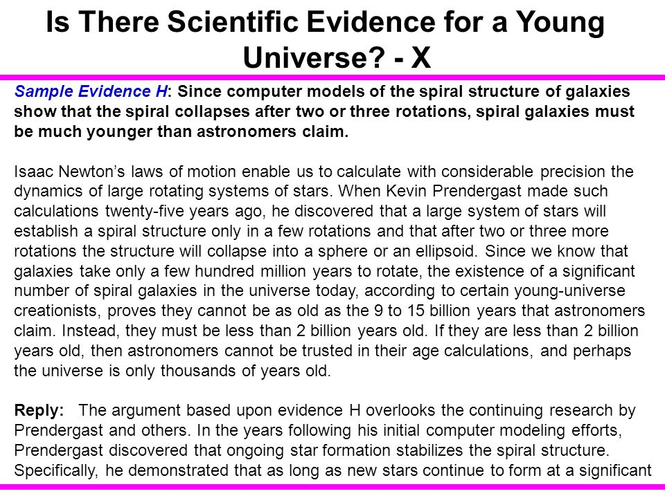 Is There Scientific Evidence for a Young Universe - X