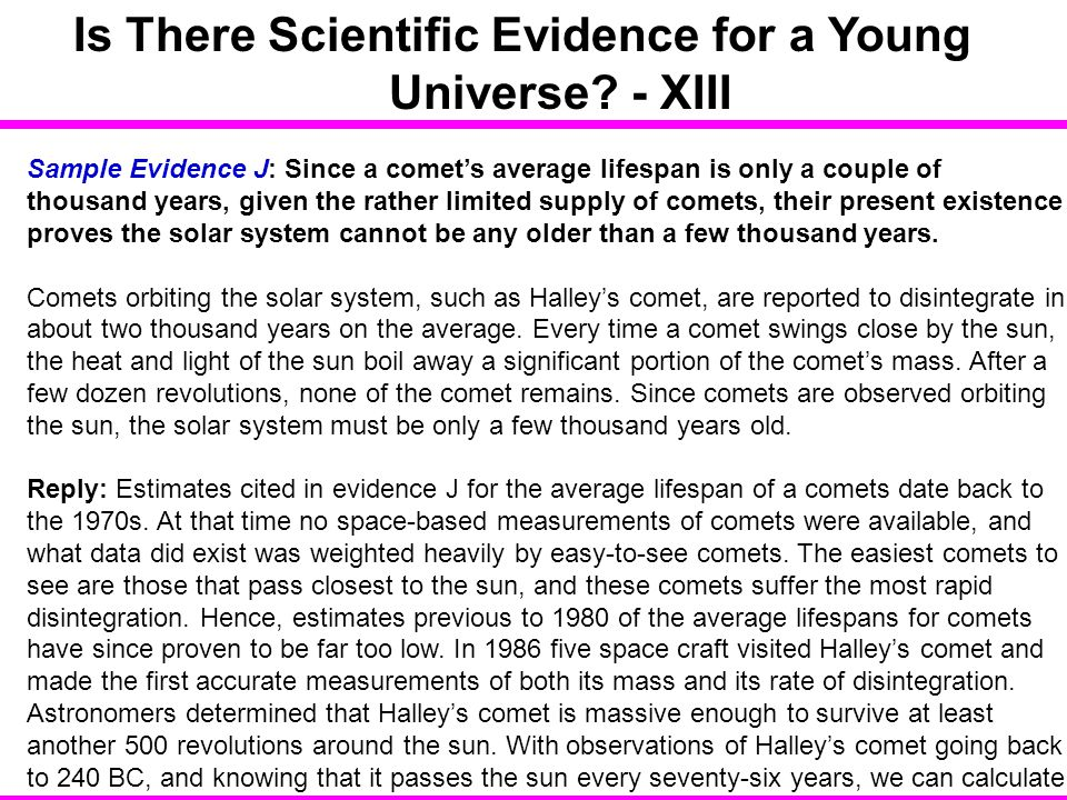 Is There Scientific Evidence for a Young Universe - XIII