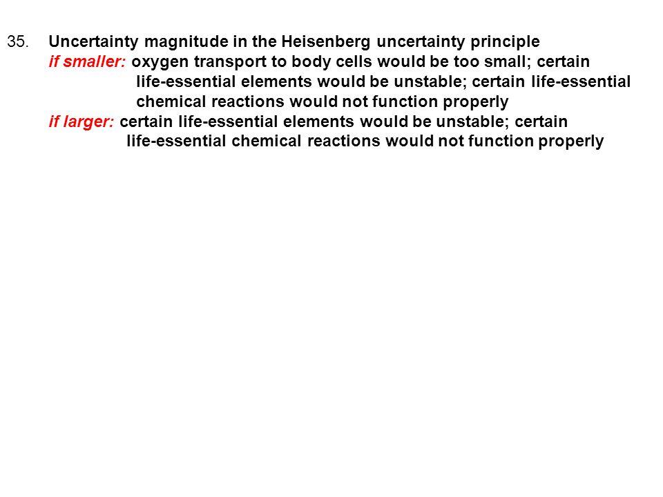 35. Uncertainty magnitude in the Heisenberg uncertainty principle