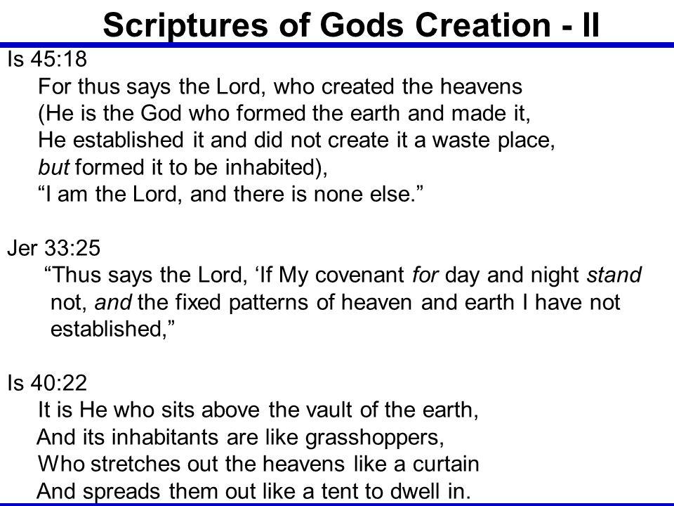 Scriptures of Gods Creation - II