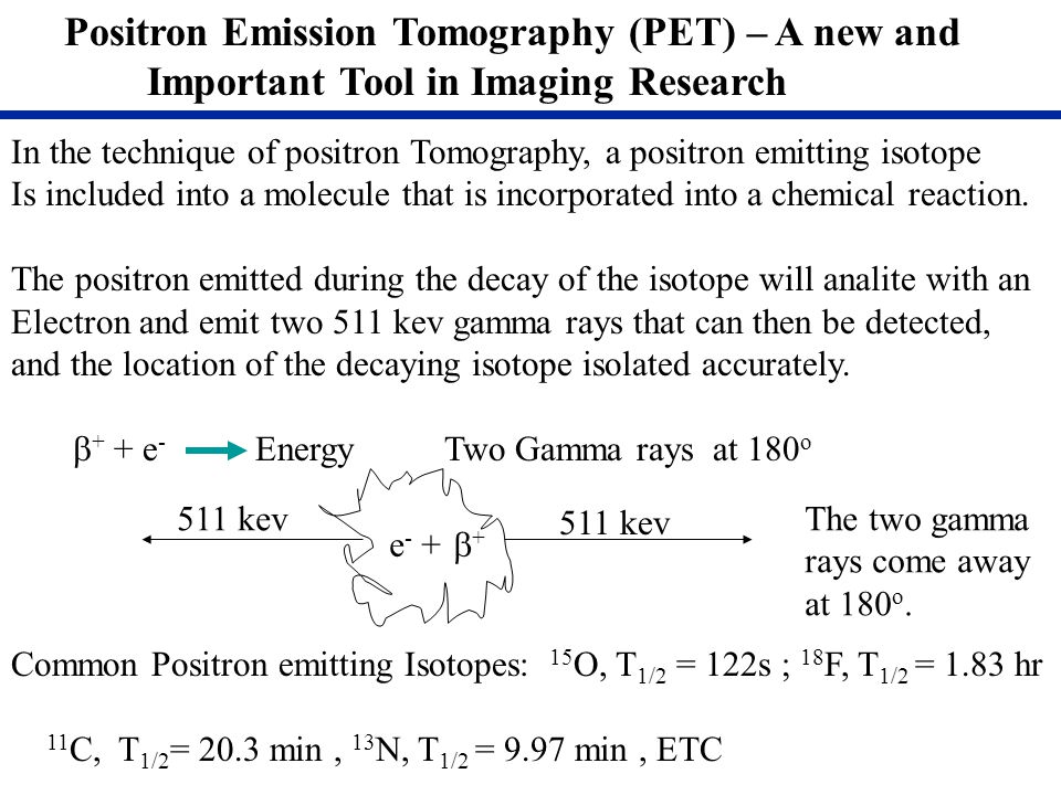 Positron Emission Tomography (PET) – A new and