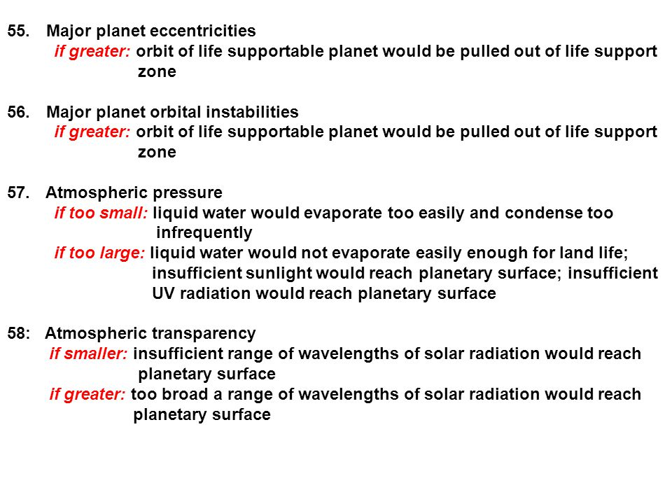 Major planet eccentricities