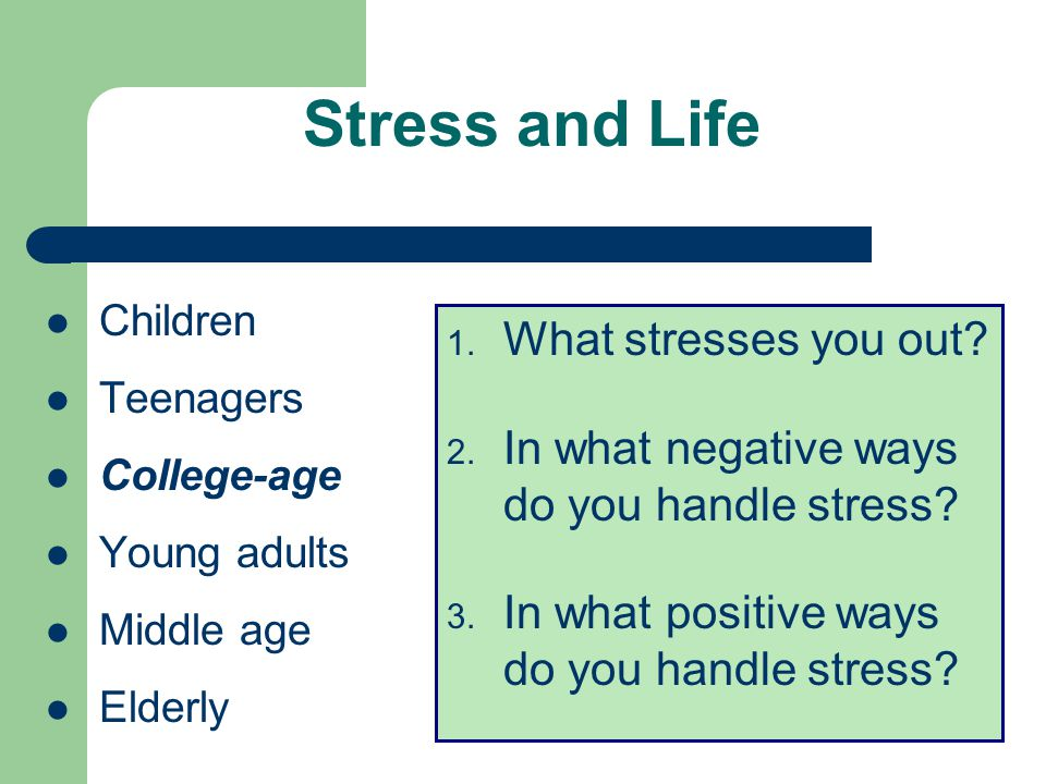 Stress and Cognition in Middle Adulthood