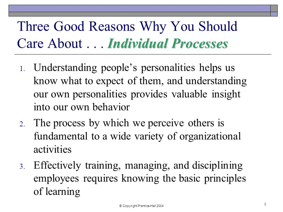 individual behavior and processes A unifying framework for thinking about processes —or sequences of tasks and   dynamic picture of organizations and managerial behavior.