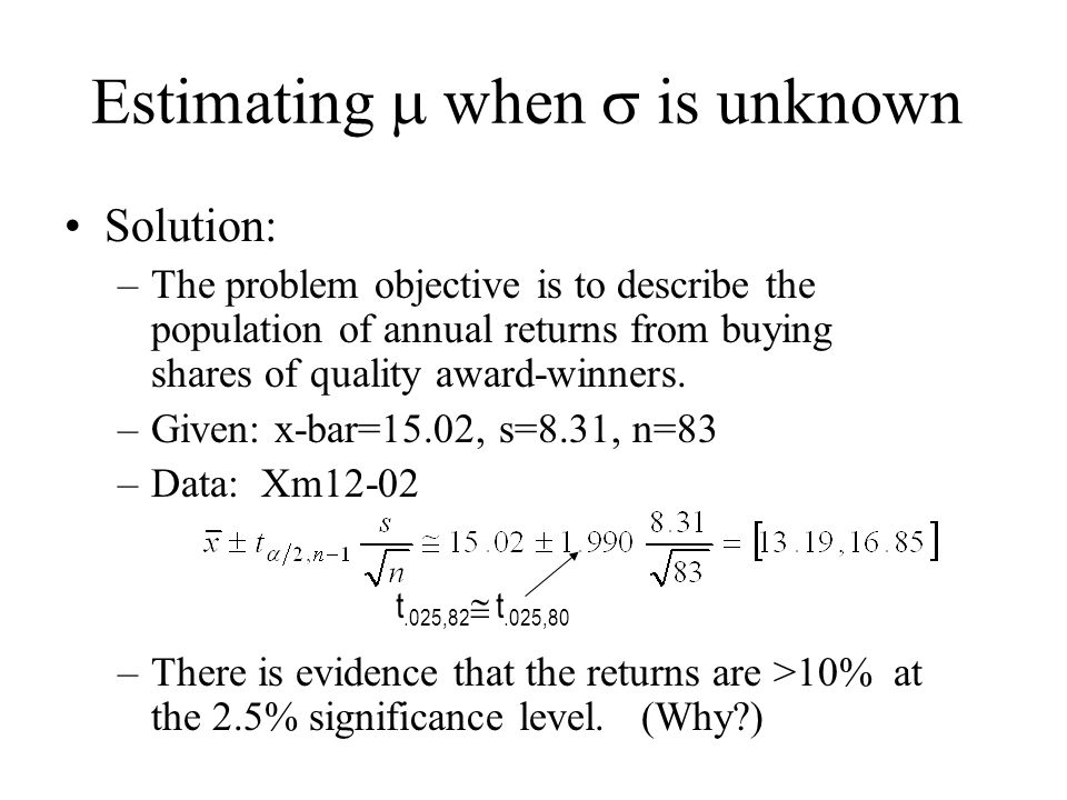 inference in population variance Statistical inference: probability and distribution 1  population variance population variance 𝜎2 = 1 𝑁 σ[(𝑥𝑖 − 𝜇)2 ] what is the variance of.