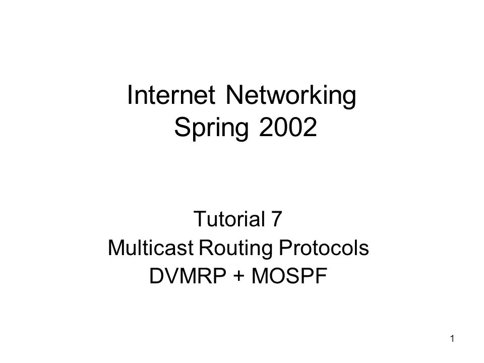 Internet Networking Spring 2002