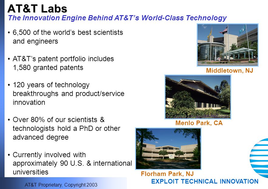 AT&T Labs The Innovation Engine Behind AT&T's World-Class Technology