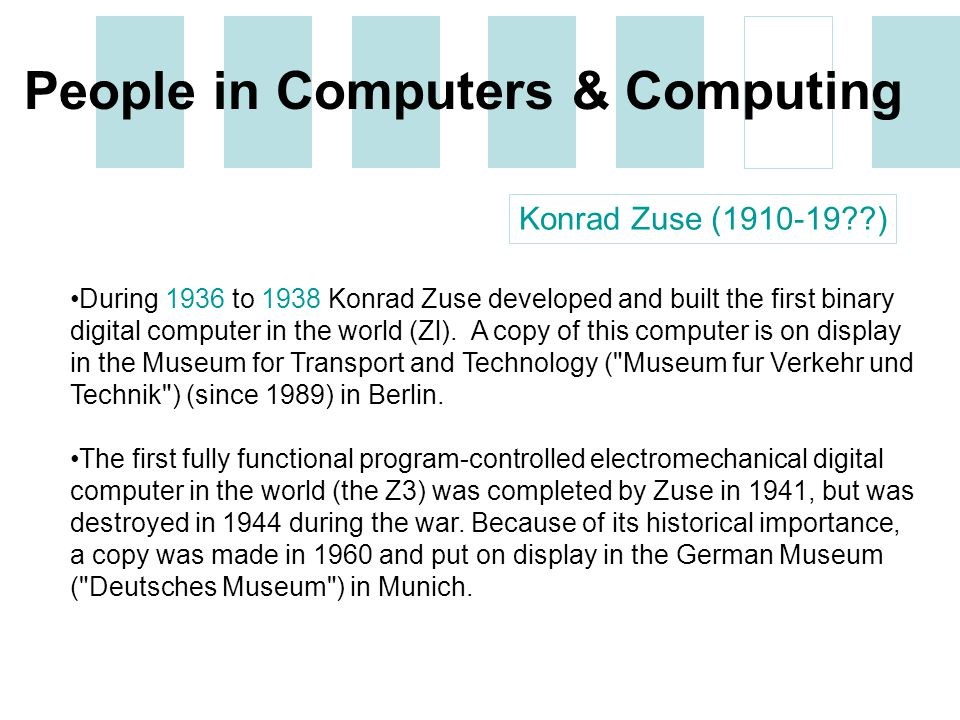 the importance of computers to people Any programming is a two step process: deciding how to solve the problem, then  implementing that as code on a particular system: choosing or.