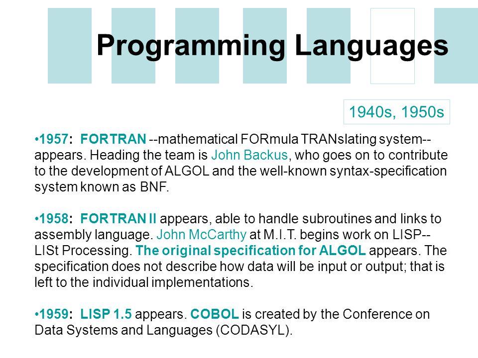 a history of fortran the first programming language An introduction to the fortran programming language reinhold bader and gilbert brietzke leibniz supercomputing centre.