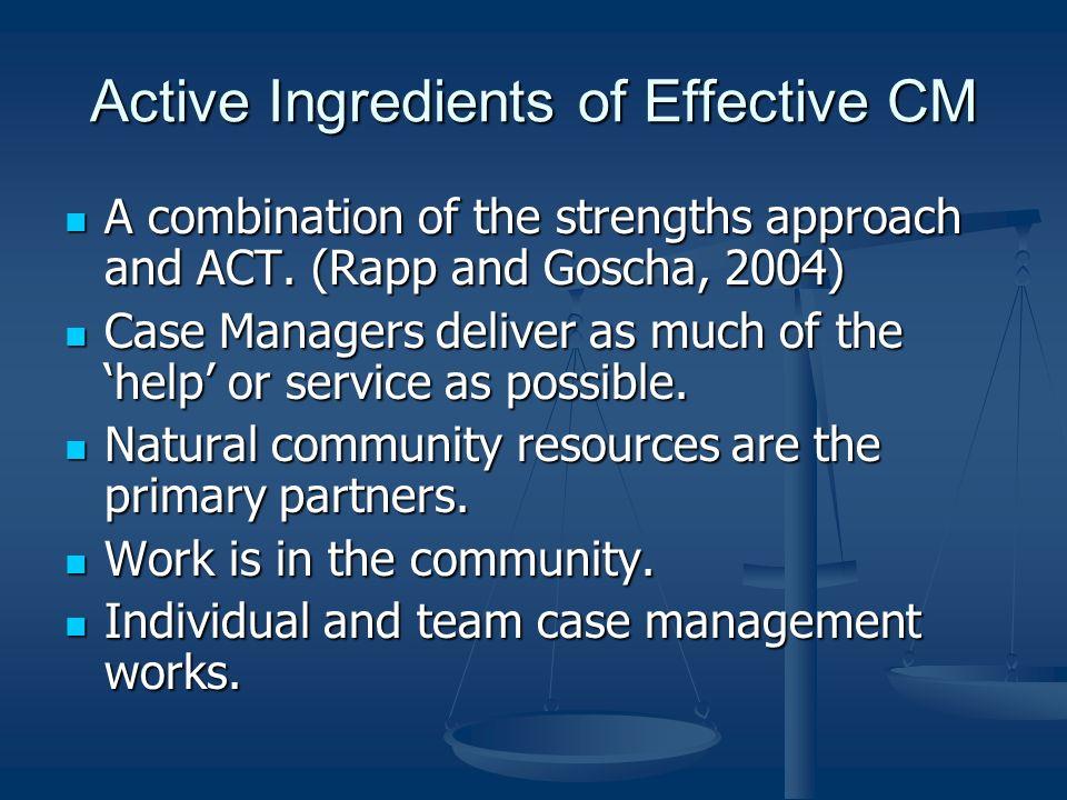 Active Ingredients of Effective CM