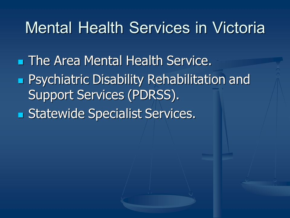 Mental Health Services in Victoria