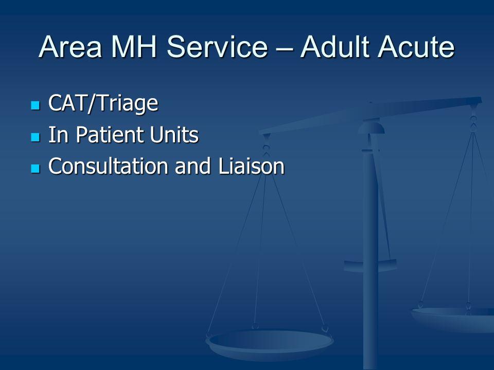 Area MH Service – Adult Acute