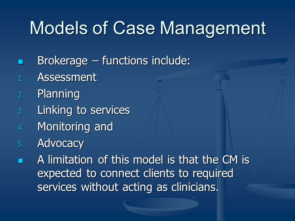Models of Case Management