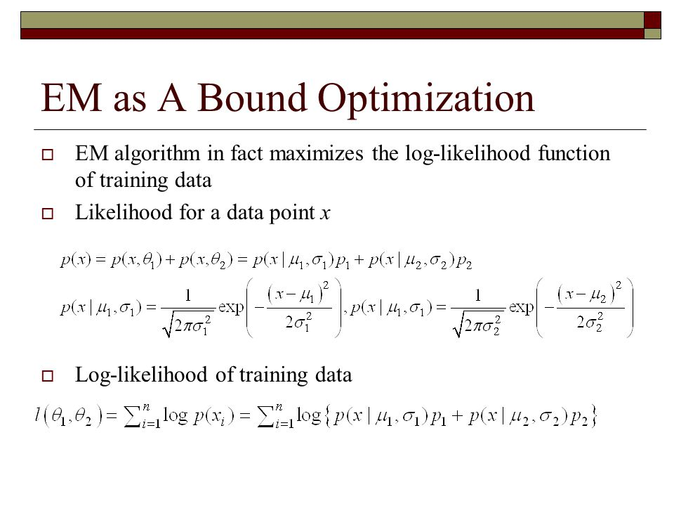 EM as A Bound Optimization