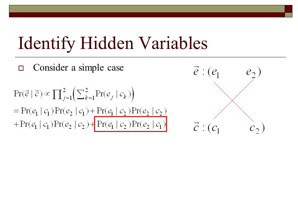 Identify Hidden Variables