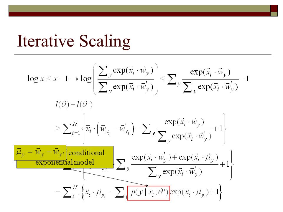 Definition of conditional exponential model
