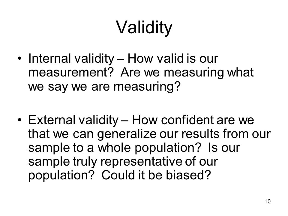 how to say if a research results is valid