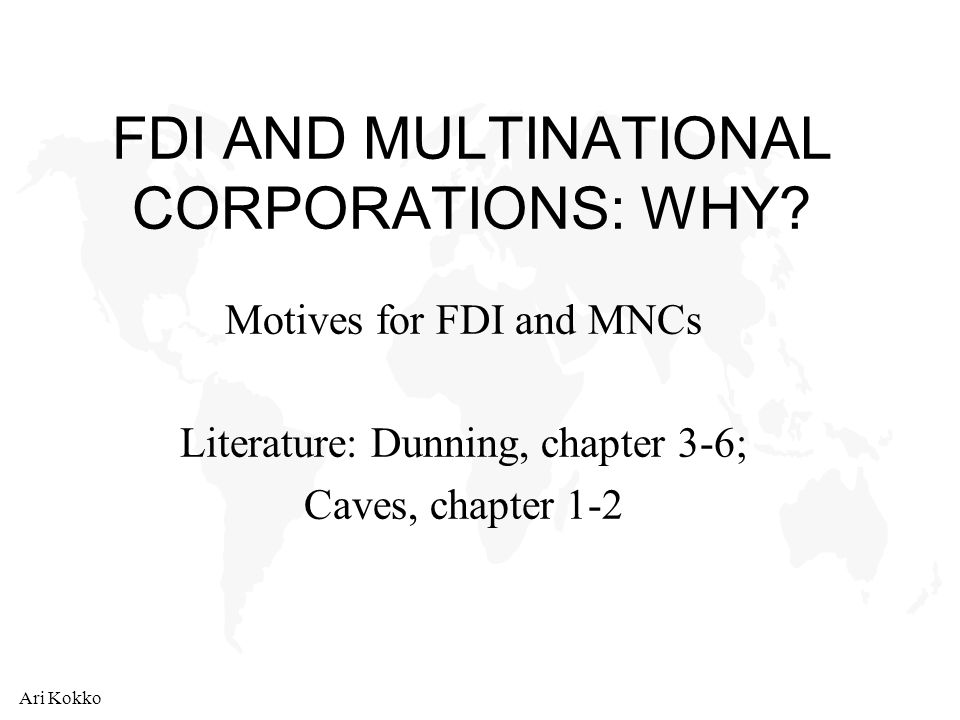 "fdi and mnc ""trade and foreign direct investment apart from the diffusion of mnc technology through spillovers, fdi may also produce other unintended efficiency."